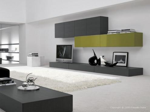 Muebles television for Mueble salon minimalista