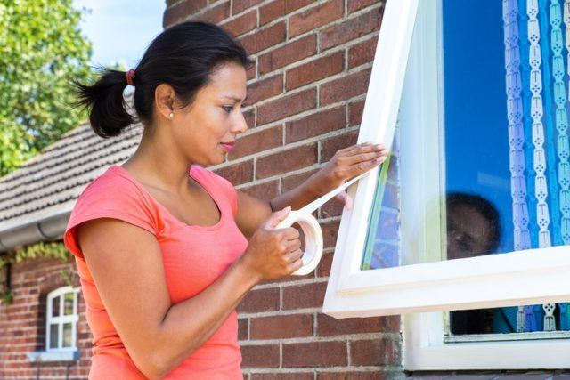 Como pintar los marcos de las ventanas cubrir