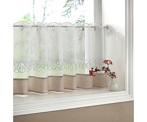 Amazoncom cafe curtains Home amp Kitchen