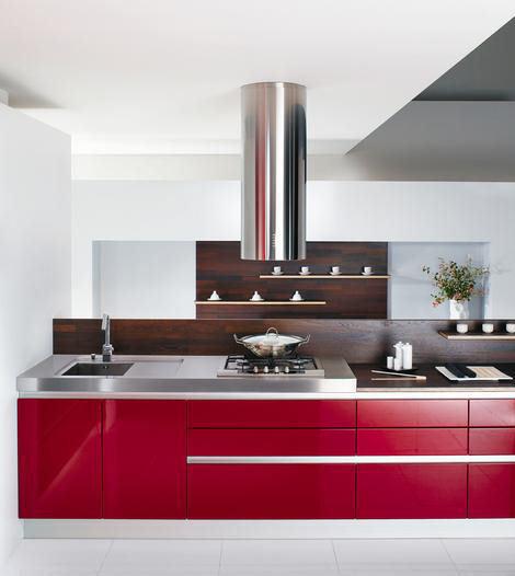 Cocinas minimalistas rojas imagui - Cocinas rojas ...