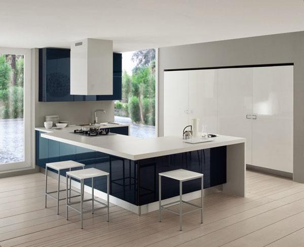 Materiales de cocina cocinas lacadas for Cocina blanca y negra