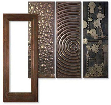 Puertas metalicas for Puertas de metal con diseno