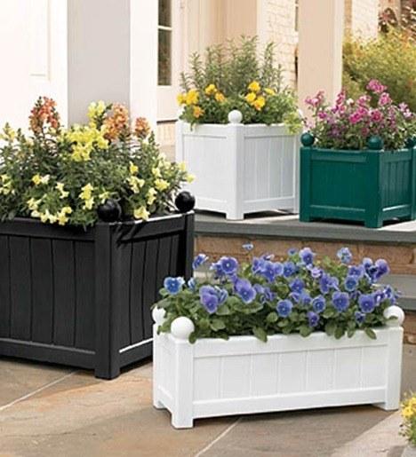 Macetas de madera for Plantas minimalistas para exteriores