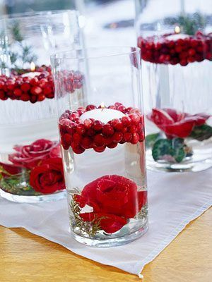 Christmas Floating Candle Centerpieces