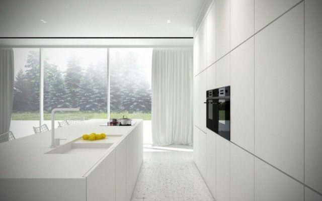 cocinas-minimalistas-modernas-blancas-con-armarios