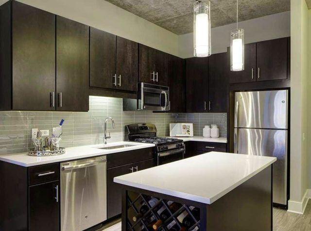 cocinas-minimalistas-modernas-color-chocolate