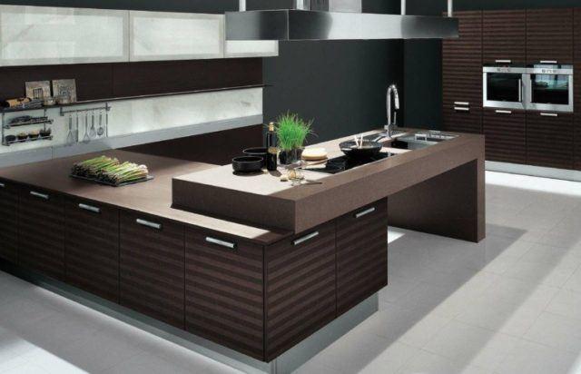 cocinas-minimalistas-modernas-madera-oscura-y-gris
