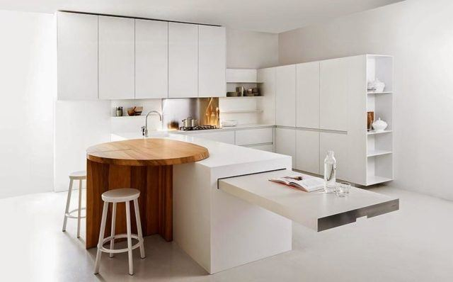 cocinas-minimalistas-modernas-pequenas-con-mesa-circular