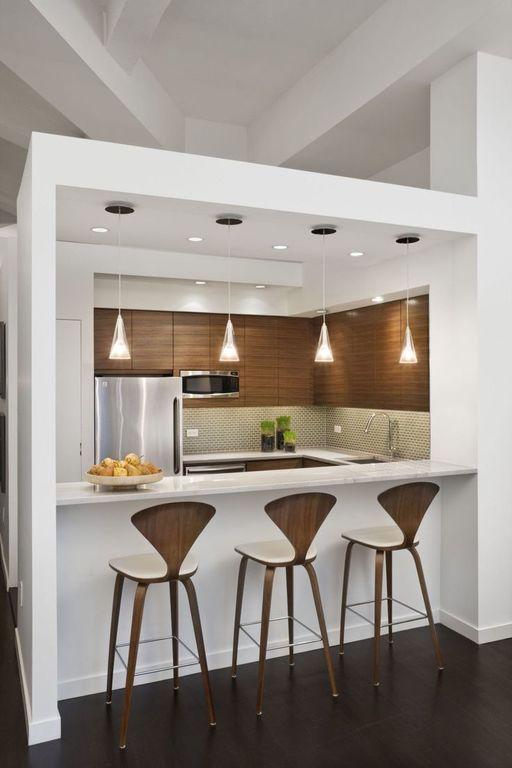 cocinas-minimalistas-modernas-pequenas-de-madera-y-blancas