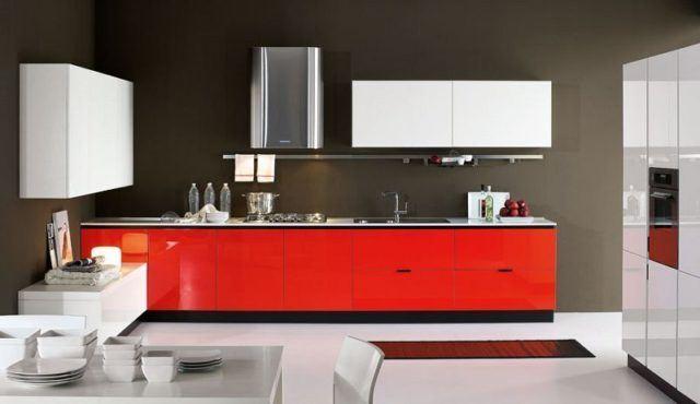 cocinas-minimalistas-modernas-rojas-sencillas
