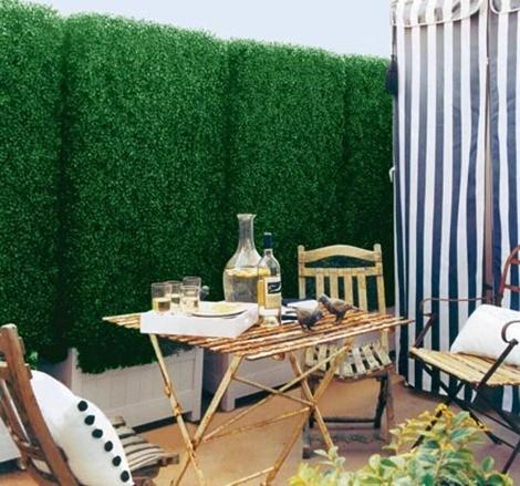 Setos artificiales y mallas para jardin