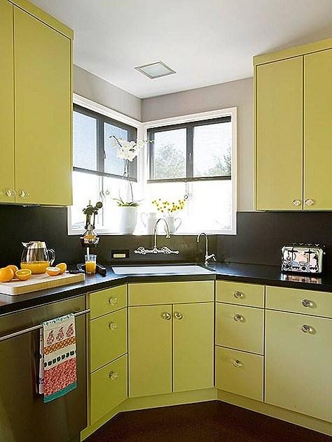 Cocinas en verde for Cocinas verdes modernas