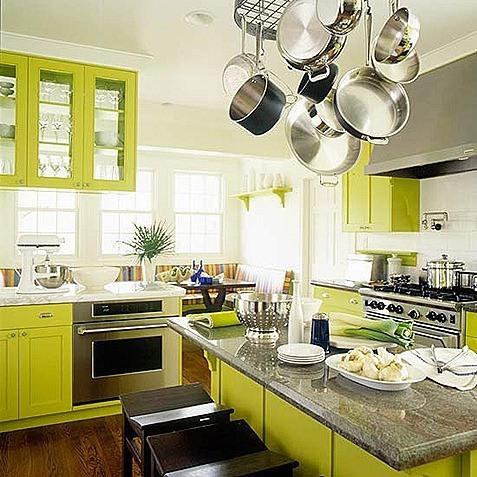 Cocinas en verde