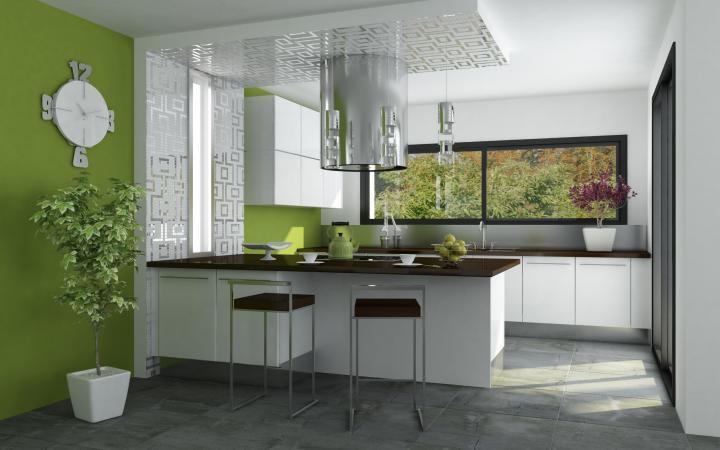 cocina-verde-moderna