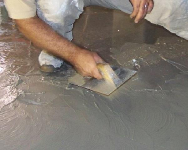 colocación cemento pulido