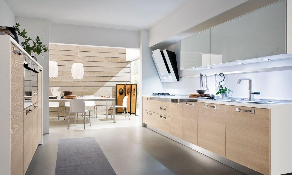 Colores para la cocina gicinque blanco y madera clara - Cocinas madera clara ...