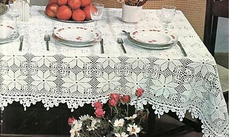 puntillas al crochet para manteles imagui. Black Bedroom Furniture Sets. Home Design Ideas