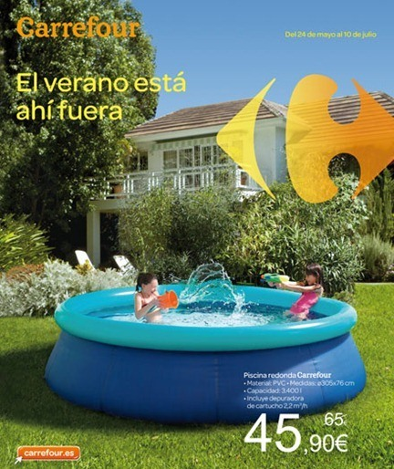 Cat logo carrefour jard n 2012 Piscina portatil pequena