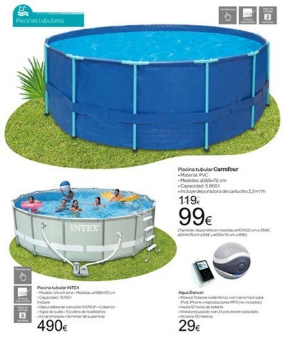 Cat logo carrefour jard n 2012 for Piscinas de plastico precios carrefour