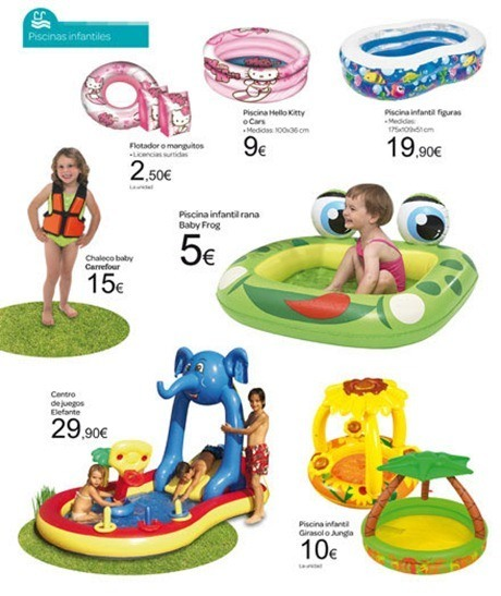 Cat logo carrefour jard n 2012 for Piscinas hinchables para jardin