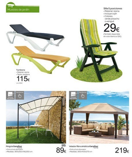 Catálogo Carrefour jardín 2012