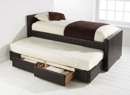 PU_Single_Trundle_Bed_with_Two_Drawers