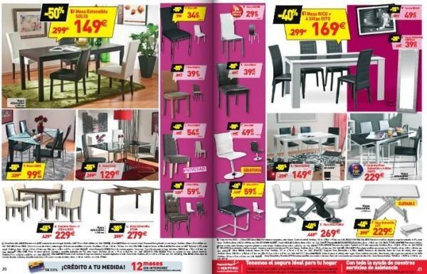 Cat logo de rebajas de conforama para el verano 2015 - Conforama mesas y sillas ...