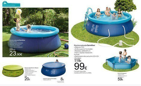 Catálogo de Piscinas Carrefour verano 2012. El verano más fresco