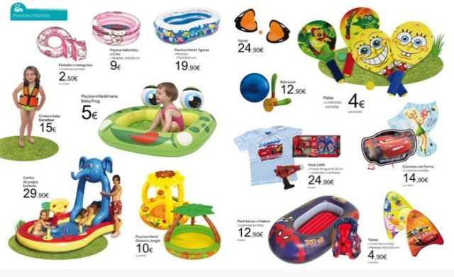 Catalogo piscinas carrefour verano 2012 for Piscinas hinchables alcampo