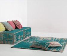 Decoración estilo vintage: alfombras, cojines y puff