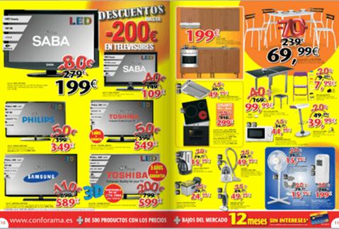 Catálogo de rebajas de Conforama para el verano 2012