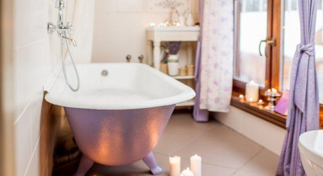 Decoracion vintage barata bañera baño