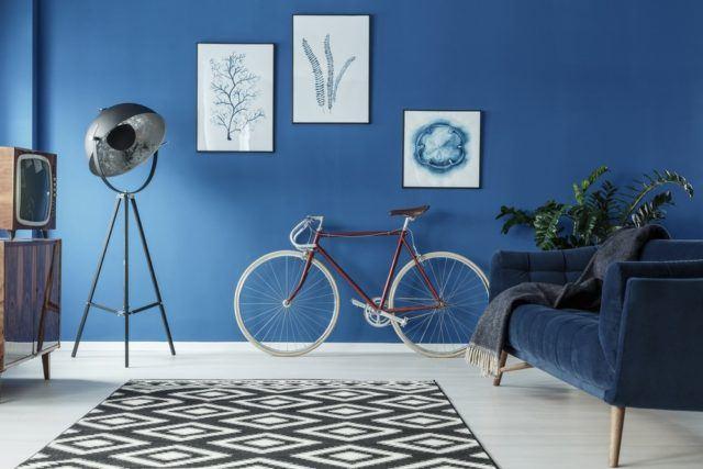 Decoracion vintage barata bicicleta salon