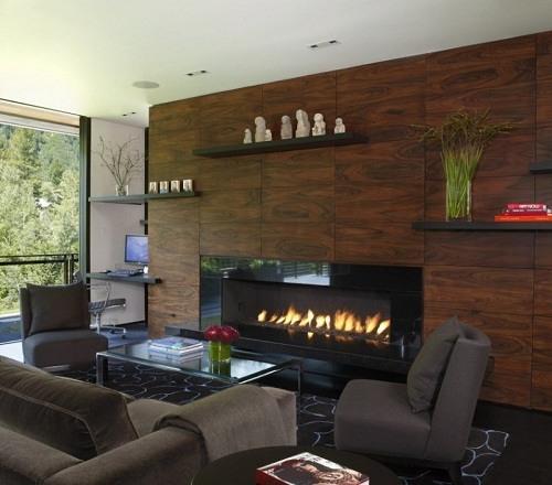 Chimenea moderna - Muebles de salon con chimenea integrada ...