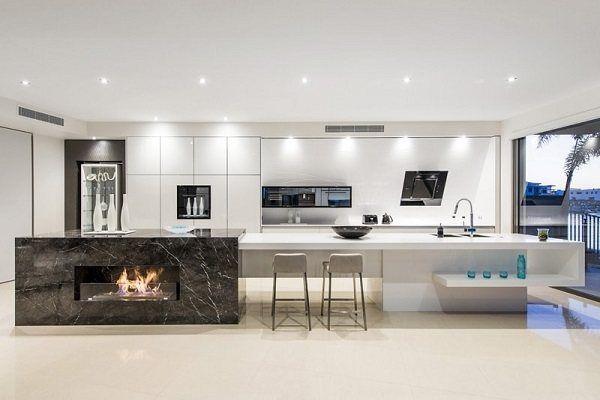 M s de 100 fotos de decoraci n de cocinas blancas y grises for Cocinas bonitas blancas