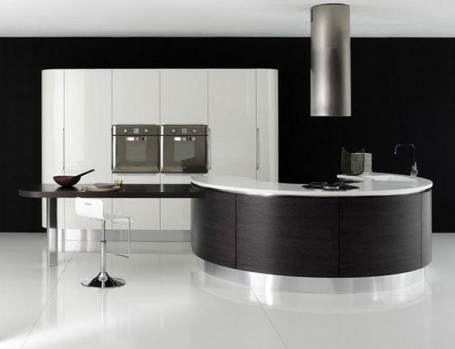 cocinas-de-lujo-modernas-blanca-y-negra-con-barra-circular