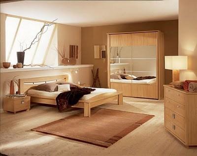 habitacion-pintada-en-beige-y-marron