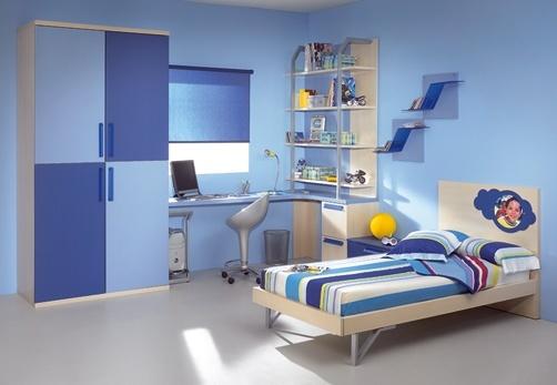 Azul en habitacion juvenil - Habitacion juvenil azul ...