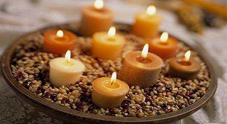 Centros de mesa con velas y flores Centros de velas con agua Centros