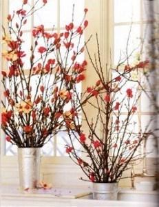 Centros de mesa con flores secas - Centros de mesa con pinas secas ...