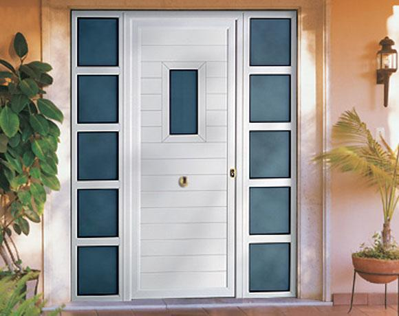 Puertas de aluminio for Puertas de metal con vidrio modernas