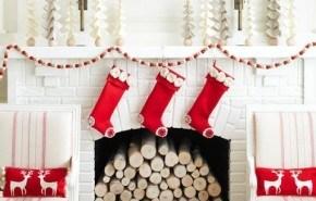 Adornos navideños para el salón