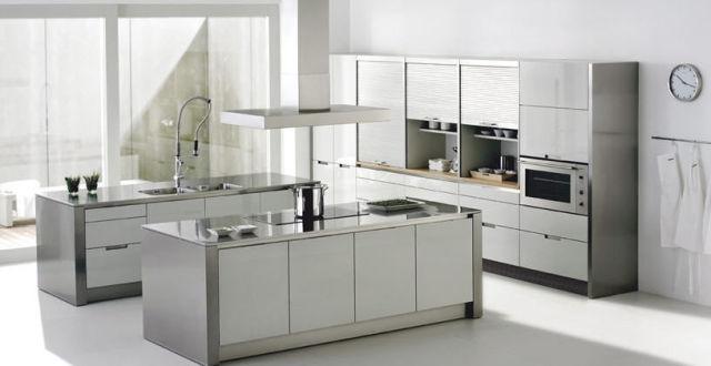 Consejos para limpiar acero inoxidable for Piso cocinas minimalistas