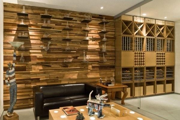 Decoraci n de paredes - Forrar paredes de madera ...