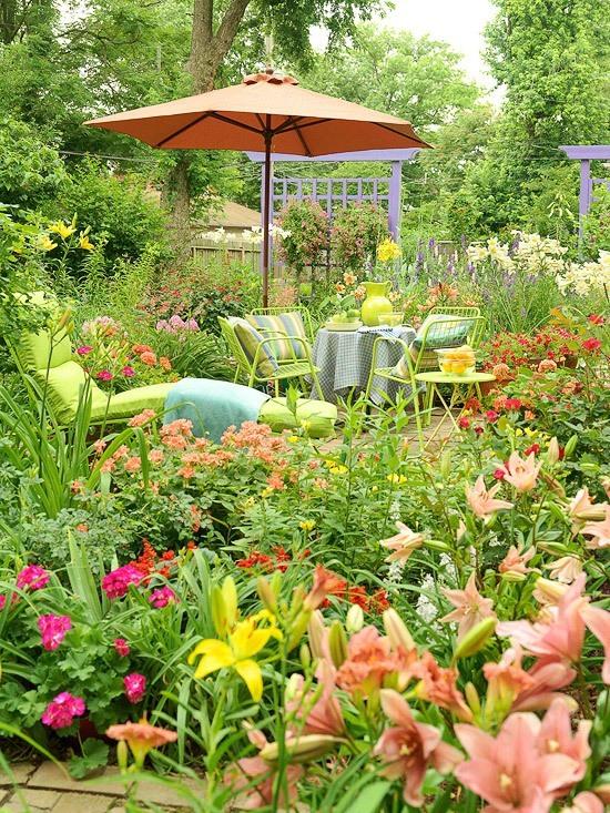 Jardines con flores 50 fotos de ideas para decorar for Jardin publiques