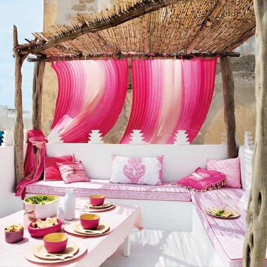 Pink-outdoor-area
