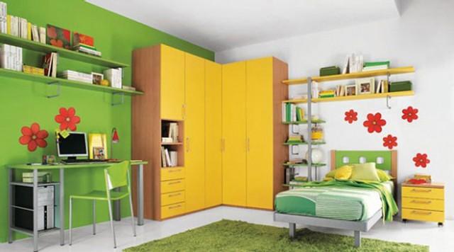 colors-bedrooms-children-FURNITURE-wardrobe-yellow