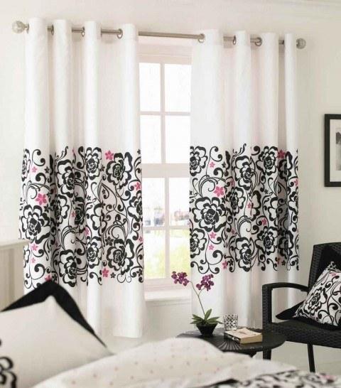Curtains Ideas bright floral curtains : Cortinas de salón para el verano - EspacioHogar.com