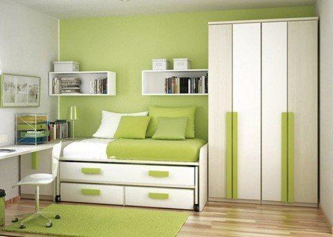 habitacion-verde