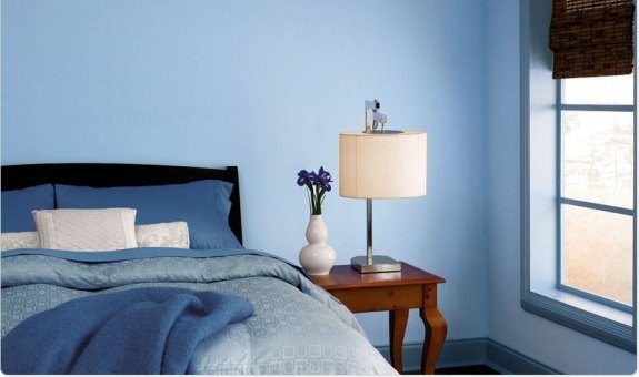 blue room color scheme - monochromatic